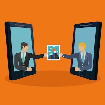 Mobiles partageant une conception de l'image
