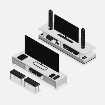Mobilier 3d réaliste et électronique