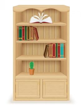 Mobilier de bibliothèque en bois