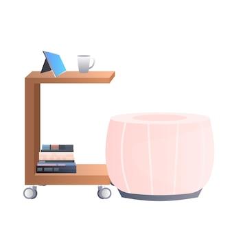 Mobilier de bureau armoire moderne isolé
