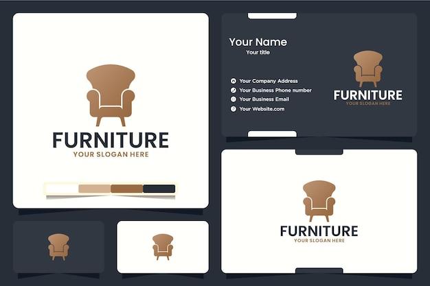 Mobilier, chaise, inspiration de conception de logo