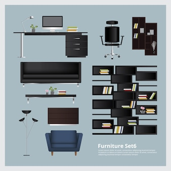 Mobilier et décoration de la maison set vector illustration