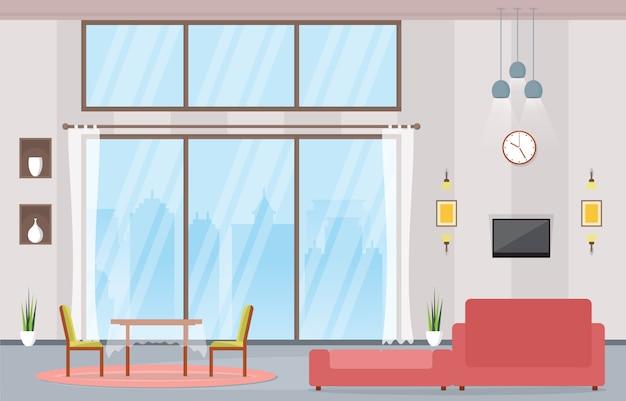 Mobilier intérieur d'appartement de grand standing avec salon de luxe
