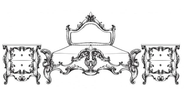 Mobilier de lit baroque