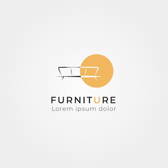Mobilier minimaliste avec logo