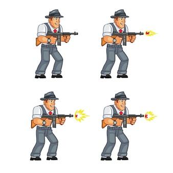 Mobster gunman game sprite
