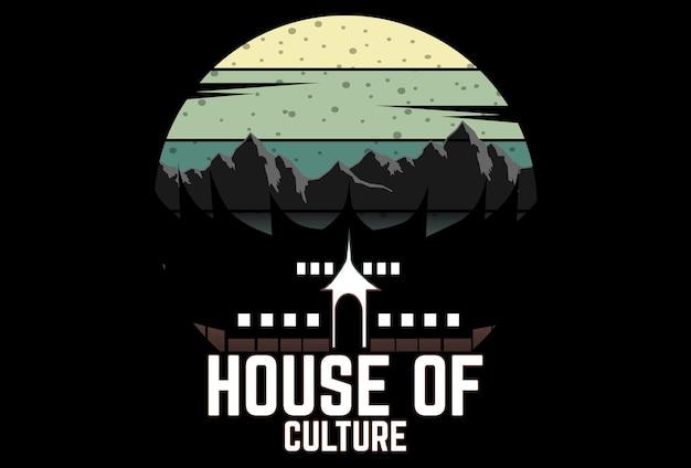 Mock up t-shirt house of culture style rétro vintage