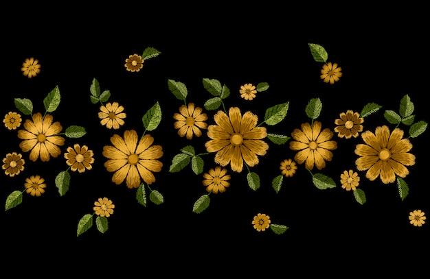 Mode de broderie été fleur sans couture