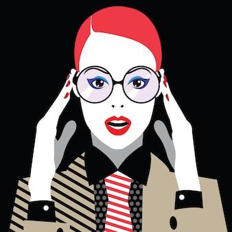 Mode femme en style pop art.