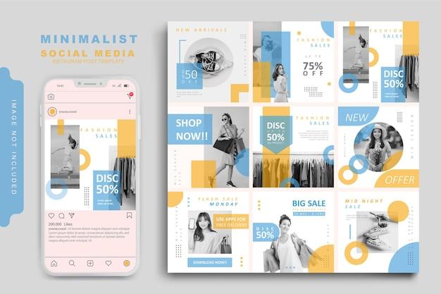Mode de modèle de publication de médias sociaux minimaliste