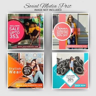 Mode de publication de médias sociaux de mode
