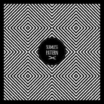 Mode sans soudure motif géométrique noir et blanc vector design texture