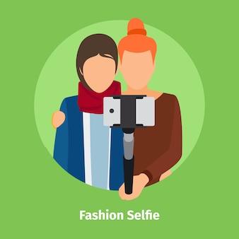 Mode selfie pour application mobile photo