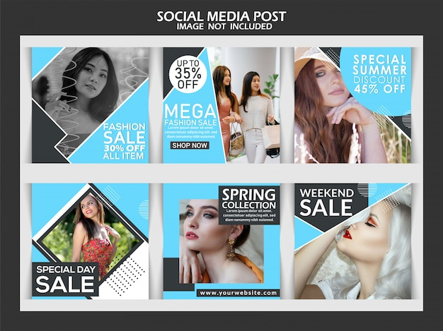 Mode de vente de week-end de réduction sur les médias sociaux