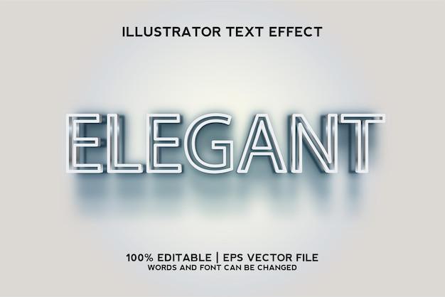 Modèle 3d d'effet de texte élégant