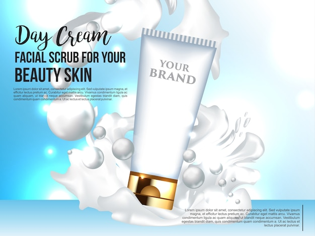 Modèle 3d maquette pour produit cosmétique de luxe