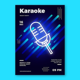 Modèle abstrait affiche de karaoké