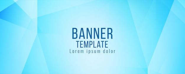 Modèle abstrait bannière bleue moderne