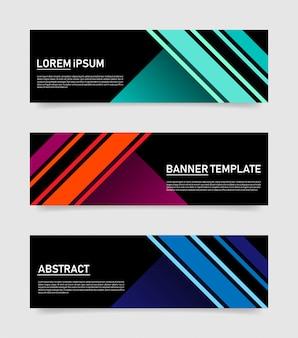 Modèle abstrait de bannières colorées.