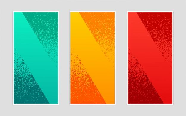 Modèle abstrait bannières verticales ondulées élégant fond créatif