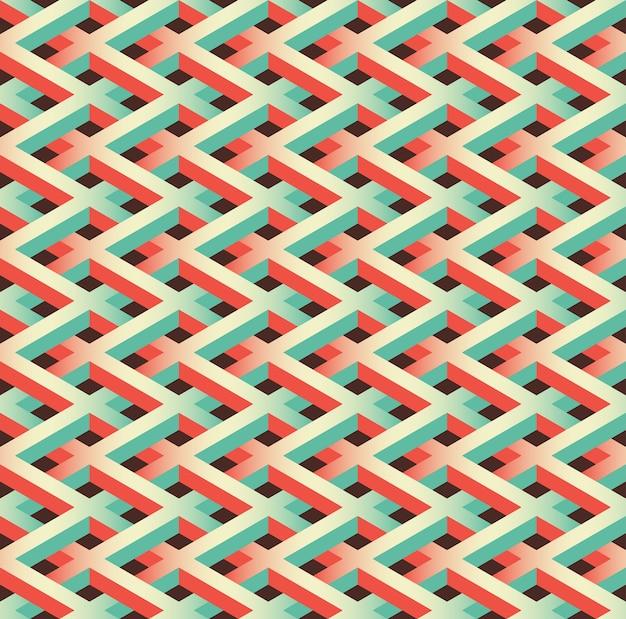 Modèle abstrait de clôture de maillon de chaîne sans soudure