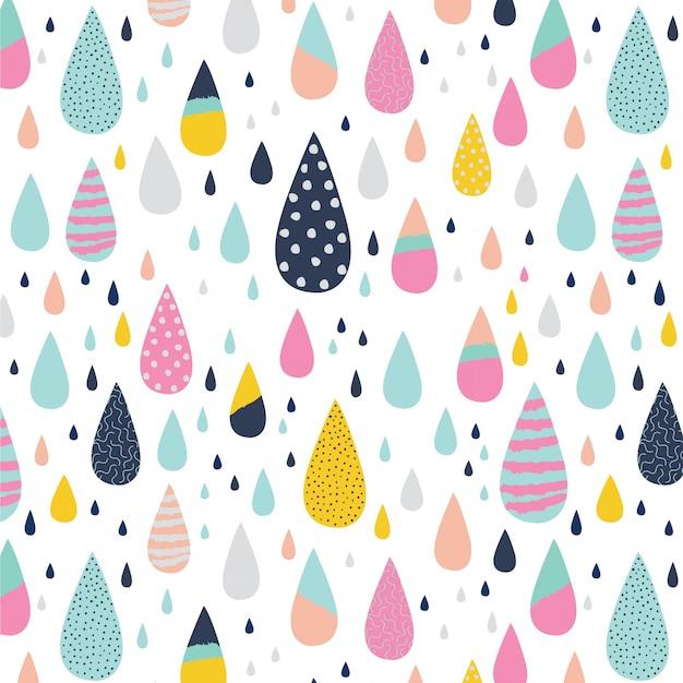 Modèle abstrait coloré goutte de pluie