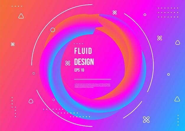 Modèle abstrait de couleur fluide avec style de mouvement dynamique géométrique moderne