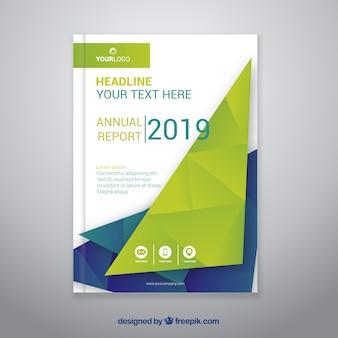 Modèle abstrait de couverture de rapport annuel créatif