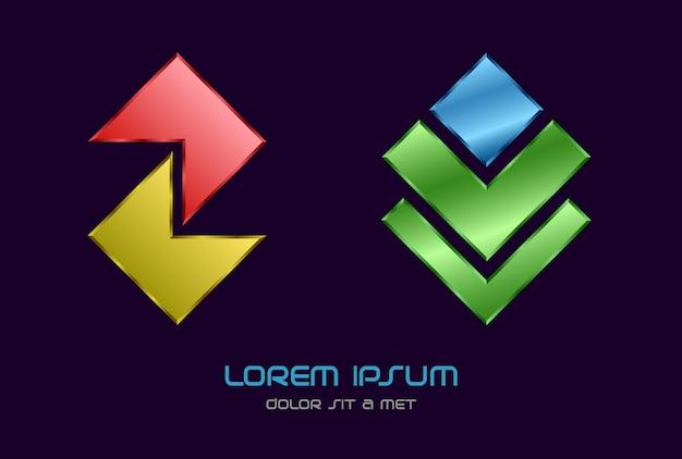 Modèle abstrait d'entreprise logo moderne