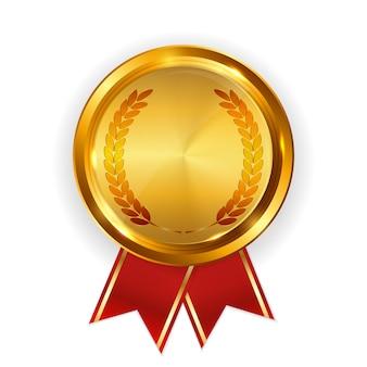 Modèle abstrait d'étiquette d'or. illustration vectorielle sur blanc