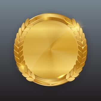 Modèle abstrait d'étiquette d'or.