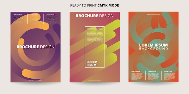 Modèle abstrait flyer coloré