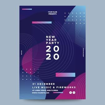 Modèle abstrait flyer fête du nouvel an