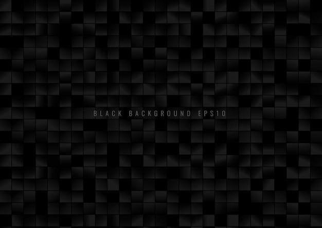 Modèle abstrait fond de pixels de grille carrée noire.