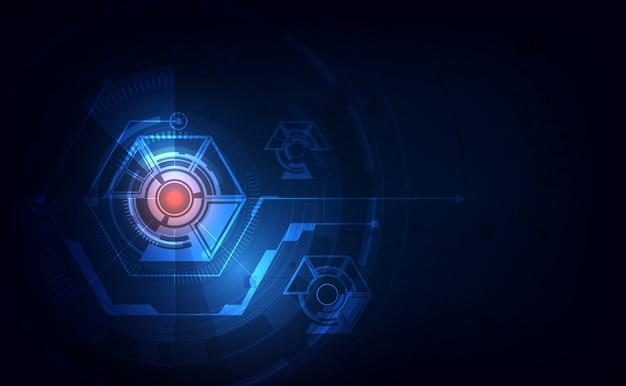 Modèle abstrait hexagone tech sci fi design concept innovant