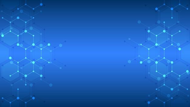 Modèle abstrait d'hexagones