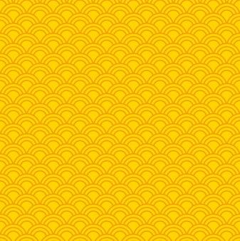 Modèle abstrait jaune sans soudure de vecteur