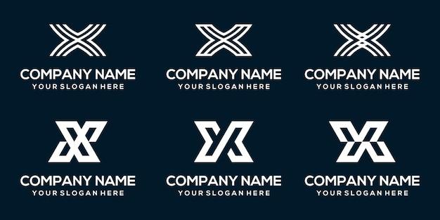 Modèle abstrait de logo vectoriel lettre x