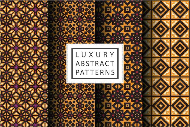 Modèle abstrait de luxe dans un style mosaïque