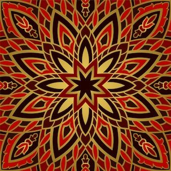 Modèle abstrait avec mandala.
