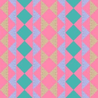 Modèle abstrait de memphis triangle tendance sans couture