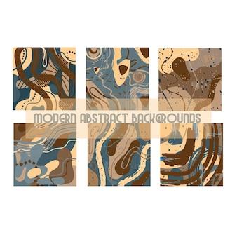 Modèle abstrait moderne avec des formes organiques texture abstraite