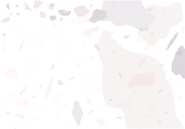 Modèle abstrait moderne de terrazzo. texture rose et grise des revêtements de sol italiens classiques. toile de fond vecteur tendance terrazzo vénitien fond fait de pierres, granit, quartz, marbre, béton.