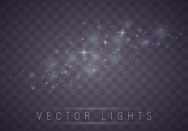 Modèle abstrait de noël étoiles brillantes sur fond bleu