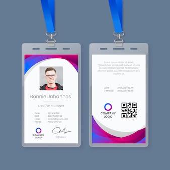 Modèle abstrait pour cartes d'identité avec photo