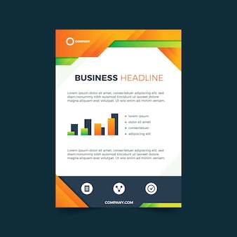 Modèle abstrait pour flyer d'entreprise détaillé