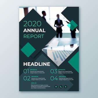 Modèle abstrait de rapport annuel avec image