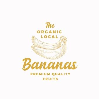 Modèle abstrait de signe, de symbole ou de logo de bananes locales biologiques