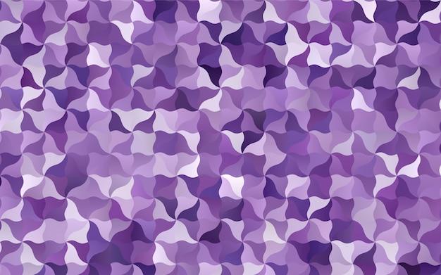 Modèle abstrait tordu vecteur violet clair