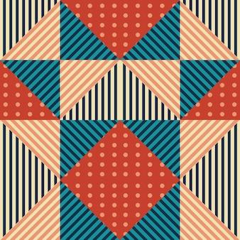 Modèle abstrait de triangle de style vintage coloré